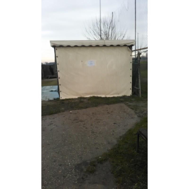 Gazebo in legno copertura e pareti in pvc 5m - pearStore